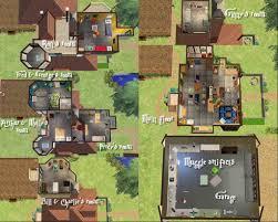 harry potter weasley u0027s burrow floor layouts sims pinterest