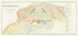 Czechoslovakia Map Geological Maps Sgidš State Geological Institute Of Dionýz štúr