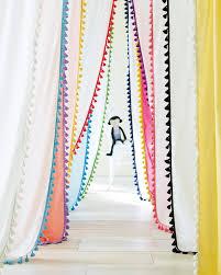 french tassel window panels in bright hues serenaandlily let