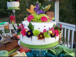 spectacular tropical wedding cake marvelous wedding decor ideas