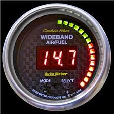 wide band carbon fiber 52mm afr or lambda digital wideband air fuel ratio