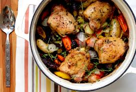 healthy weeknight recipes roasted chicken thighs with root