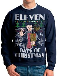 stranger things ugly christmas sweater eleven days