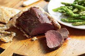 salt crusted beef tenderloin beef baked in a salt crust recipes delicious com au