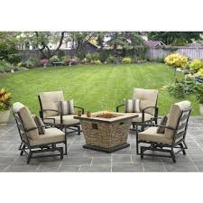 Fire Pit Tables And Chairs Sets - better homes and gardens sandridge 5 piece slat back gas fire pit
