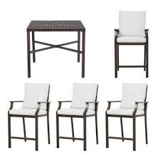 Outdoor Patio High Chairs by Bar Height Dining Sets Outdoor Bar Furniture The Home Depot