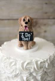 wedding cake topper with dog golden labrador cake topper psiaki golden labrador