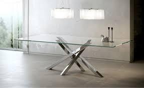 tavoli design cristallo tavoli da pranzo moderni in cristallo sedie impagliate da cucina