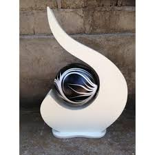 Lampe Deco Design Lampe Deco Design Bima Blanc U0026 Noir Achat Vente Lampe A Poser