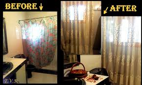 dated window treatments diy fall bathroom decor