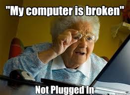 Not Working Meme - computer not working meme mne vse pohuj