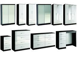 White Gloss Bedroom Drawers Furniture Elegant Bedroom Furniture Wardrobes Large Lynx Black