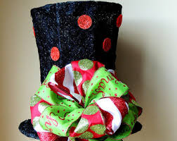 top hat tree topper etsy