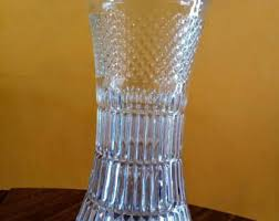 Antique Lead Crystal Vase Lead Glass Vase Etsy