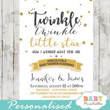 twinkle twinkle baby shower invitations twinkle twinkle baby shower invitations gender