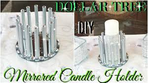 diy dollar tree mirrored candle holder diy home decor youtube