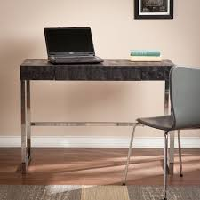 vivienne reptile contemporary desk black desks home office