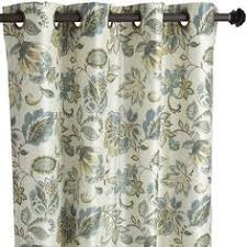 Pier One Drapes Meadow Floral Curtain Indigo 84