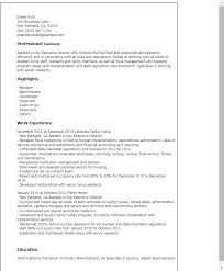 Resume Templates And Examples by Professional Assisted Living Executive Director Templates To