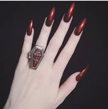 bloody red nails my favorite nails pinterest red nails