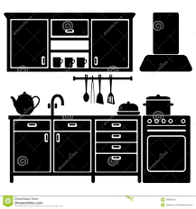 Black Kitchen Appliances by Kitchen Appliances Icons Black Stock Vector Image 45874019