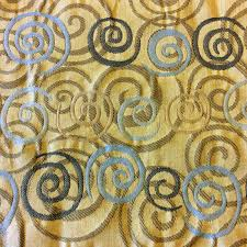 hd236 geo swirls geometric yellow upholstery abstract modern home