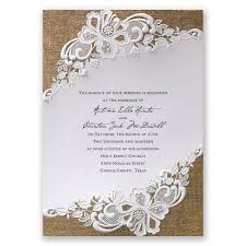 wedding invatations lacy invitation invitations by