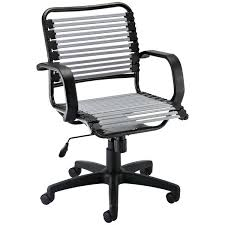 silver desk chair silver flat bungee office chair with arms silver metal desk chair