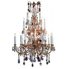 Antique Rock Crystal Chandelier Louis Xvi Style Dore Bronze U0026 Rock Crystal Chandelier 24 Lights