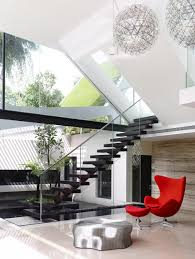 architecture floating black staircase decor and floor toceiling