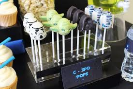 wars party ideas cake pops from a wars birthday party via kara s party ideas