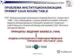 Caux Round Table презентация на тему