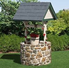 wishing well with base gardens and