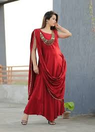 dress with necklace images Saree pattern dress with necklace at rs 1499 piece designer jpeg