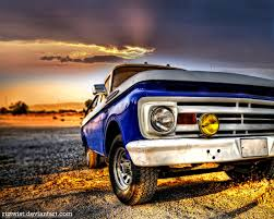 Classic Ford Diesel Truck - old truck hdr by riztwist on deviantart
