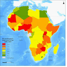 africa map atlas africa atlas of our changing environment