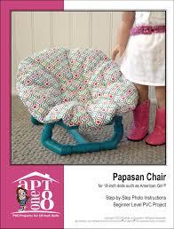 Pink Papasan Cushion by Aptone8 Papasan Chair Pvc Pattern 18 Inch Dolls Such As American