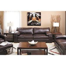 All Leather Sofas Picture Of Martino Cabernet All Leather Sofa Furniture