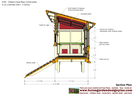 poultry layout plan with chicken coop inside a shed 12927