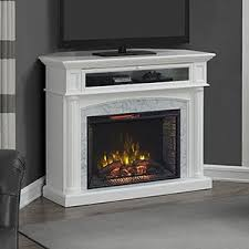 Amazon Fireplace Tv Stand by Amazon Com Catelyn Infrared Electric Fireplace Tv Stand In White