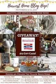 Home Decor Blogs To Follow by Follow The Yellow Brick Home Harvest Home Blog Hop Home Giveaway