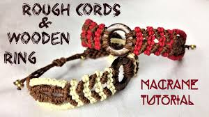 cord macrame bracelet images Macrame tutorial rough cords bracelet with wooden ring simple jpg