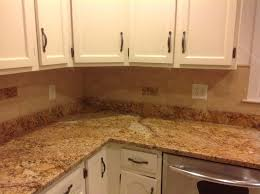 Traditional Backsplashes For Kitchens Bathroom Cozy Countertop Design With Giallo Ornamental Granite