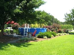 Landscaping Around A Pool by Landscape Around Pool For Privacy Landscape Around Above Ground