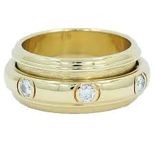 piaget ring piaget yellow gold diamond spinner ring for sale at 1stdibs