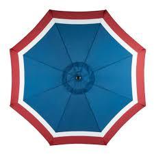 Blue And White Patio Umbrella Mosaic 9 Steel Market Umbrella Academy
