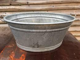 water trough planter galvanised metal bath trough planter vintage garden u0026 patio