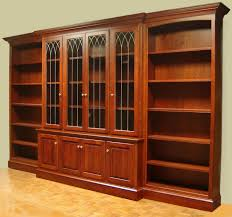 furniture mahogany bookcase with glass doors brown solid wood