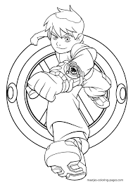 ben ten coloring pages free printable enjoy coloring deaven u0027s