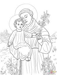 st anthony of padua coloring page free printable coloring pages